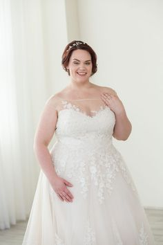 b78a8a519a02 Lillian West a-line wedding dress - plus size wedding gown from Charlotte's  Weddings in