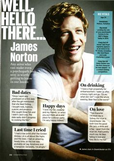 I feel like I need Grantchester to come back ASAP. James Norton Actor, Actor James, Tommy Lee Royce, A Good Man, Good To Know, Something In The Way, Best Supporting Actor, Hooray For Hollywood, British Actors