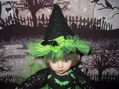 "Gone Batty Witch Dress & Hat for 10"" Tonner Ann Estelle Patsy Half Pint Doll"