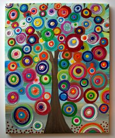 Childrens Canvas Wall Art Abstract Acrylic Painting