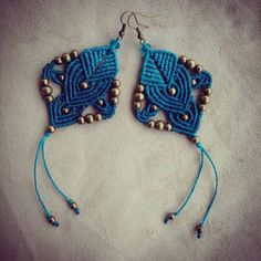 Macrame earrings tribal earrings macrame jewelry boho por QuetzArt Supernatural Style