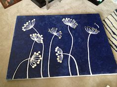 Dandelion painting-DIY canvas decor