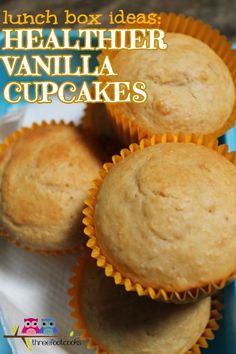 Looking for lunch box ideas for your kids? This healthier vanilla cupcake recipe makes a fabulous lunch box treat.