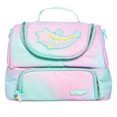 Image for Pastel Lunch Box from Smiggle UK Girls Rolling Backpack, Unicorn Pencil Case, Diaper Bag, My Little Pony Dolls, Unicorn Fashion, Baby Doll Nursery, Kids Luggage, Diy Back To School, School Accessories