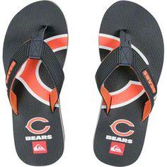 09784a82e NEW ARRIVAL  Chicago Bears Navy Quicksilver Flip Flop Sandals http   www.