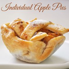 Individual Apple Pies for Thanksgiving!  ..... or Christmas, or New Years, or 4th of July, or any large gathering!