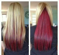 Blond with red underneath