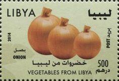 Stamp: Onion (Libya) (Vegetables from Libya) Mi:LY 3064,WAD:LY008.14