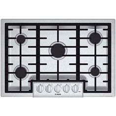 Bosch 800 5 Burners Stainless Steel Gas Cooktop (Common: Actual: at Lowe's. Experience the power of this five-burner gas cooktop by Bosch. The stainless steel and black cooktop adds a sleek, modern look to any kitchen and Kitchen Stove, Kitchen Appliances, Kitchens, Bosch Appliances, Kitchen Reno, Kitchen Facelift, Smart Kitchen, Kitchen Cabinets, Gas Stove Top