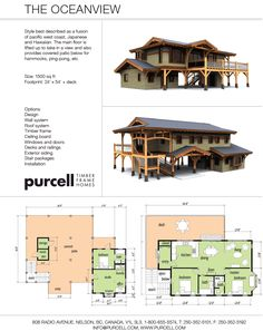 Purcell Timber Frames - The Precrafted Home Company - The Oceanview Home