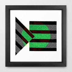 Stripes Framed Art Print by Jensen Merrell Designs - $32.00