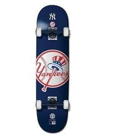 Element MLB Yankees Complete-7.75 Skateboard