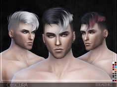 Obscura Male Hair by Stealthic at TSR via Sims 4 Updates
