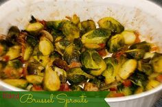Baked Brussel Sprouts with Bacon l www.lorisculinary... l #BaconRecipes