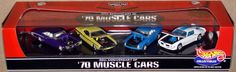 Hot Wheels 30th ANNIVERSARY of '70 MUSCLE CARS, 4 car set, 1:64, New in Box #HotWheels