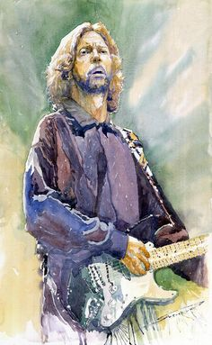Eric Clapton 05 by Yuriy Shevchuk ~ watercolor