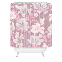 Sabine Reinhart Cottage Garden Shower Curtain | DENY Designs Home Accessories #pink #purple #flower #detail #decor