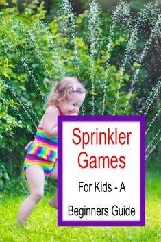 Sprinkler Games For Kids - A Beginners Guide Sprinkler Party, Best Sprinkler, Kids Sprinkler, Water Sprinkler, Kids Party Games, Games For Kids, Infant Activities, Family Activities, Outdoor Yard Games