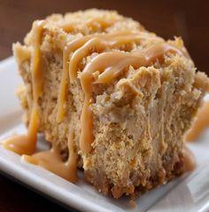 Pumpkin Cheesecake Bars by Life's Ambrosia