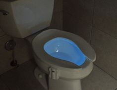 The GlowBowl transforms your toilet into a Night Light. A High #Tech #Gadget for your Low Tech #Toilet.
