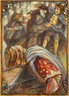 """The mightiest man may be slain by one arrow.."" by Soni Alcorn-Hender --- Boromir was pierced by three"
