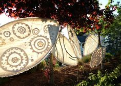 Fiona Duthie. Respiration: an Outdoor Felt Installation for Land Art exhibition