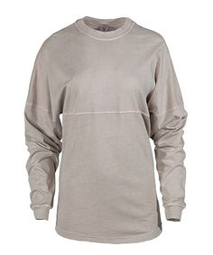 This Venley Khaki Oversize Long-Sleeve Football Tee by Venley is perfect! #zulilyfinds