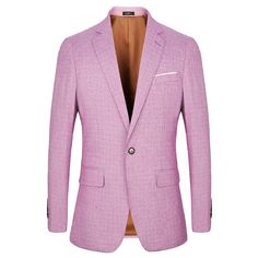 f8fbdd6f8775 2018 Spring Summer New Casual Blazers Men Suits Linen Thin Slim Fit Suit  blazer one button fashion Male Jackets Pink % - linen clothing store