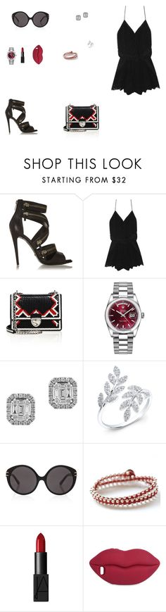 """Look do Dia"" by julianaf121 ❤ liked on Polyvore featuring Schutz, Prada, Rolex, Effy Jewelry, Anne Sisteron, Roland Mouret, BijouxBar by Vivien Frank, NARS Cosmetics and STELLA McCARTNEY"