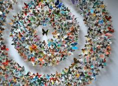 Rebecca J. Coles' art is made of hundreds of paper butterflies