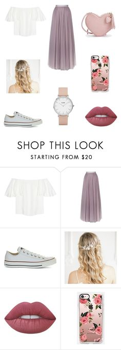 """Untitled #295"" by niniber002 ❤ liked on Polyvore featuring Valentino, Needle & Thread, Converse, Lime Crime and CLUSE"