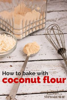 How to use coconut flour in baking (and what NOT to do!) Grain free baking with coconut flour is nothing like regular baking. But I love cooking with coconut flour for low-carb grain-free desserts! Baking With Coconut Flour, Coconut Flour Recipes, Baking Flour, Coconut Oil, Almond Flour, Paleo Flour, Tigernut Flour, Buckwheat Recipes, Desserts With Coconut Flour