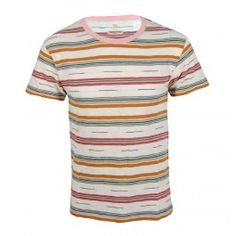 This Made and Crafted Levis Regular Tee is part of the new spring/summer collection. This Levis garment is a great piece to add a bit of colour to your wardrobe with its unique look. You will not have a dull moment with this regular fit tee which, features 100% cotton, short sleeves and a pale pink crew neck. Finished in a rainbow of colours and striped detail this tee is a perfect lightweight statement summer piece to match plenty of different outfits!    100% Cotton  £65
