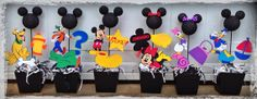 Mickey Mouse clubhouse centerpieces set of by RaeofSunshinedesign, $70.00