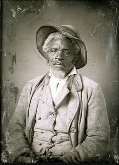 Missouri Daguerreotype by Thomas Easterly Unidentified man, grey hair and goatee, with rough looking hat, buckskin vest, and heavy corduroy jacket. Likely between 1854 and 1865.