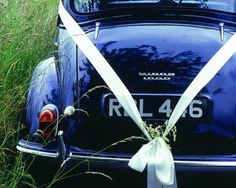 Ride away in style with a classic blue car!  #watters #somethingblue www.pinterest.com/wattersdesigns