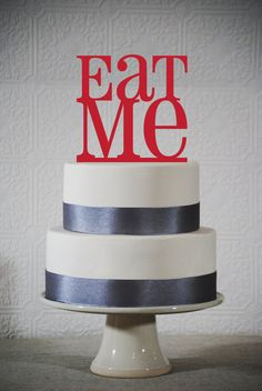 Eat Me Wedding cake topper - Alice in Wonderland- (S134)