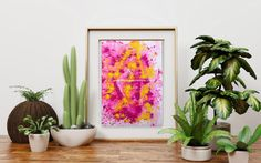 Items similar to Original abstract painting Pink and Yellow Collide by Tracey Lee Everington (Tracey Lee Art Designs), wall art, size, acrylic paint on Etsy Australian Artists, Blue Yellow, Art Designs, Original Artwork, Christmas Gifts, Art Prints, The Originals, Abstract, Awesome