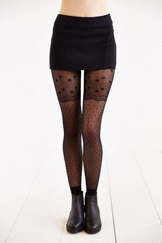 Lacey Polka Dot Mix Tight