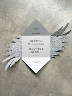 Swan Lake Invitation / Paper & Type