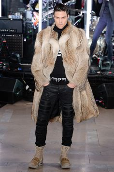 Philipp Plein - Fall 2017 Menswear - Leather and Fur. The colors work. The 1797775de37