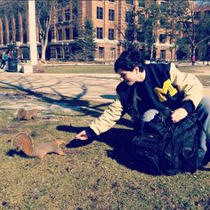 Stop in the Diag and feed the squirrels - you might even be able to get a lesson from the (unofficial) Diag Squirrel Feeder!