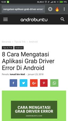 Ini dia 8 cara yang bisa kamu lakukan untuk mengatasi grab driver error di android. Baca selengkapnya di androbuntu.com