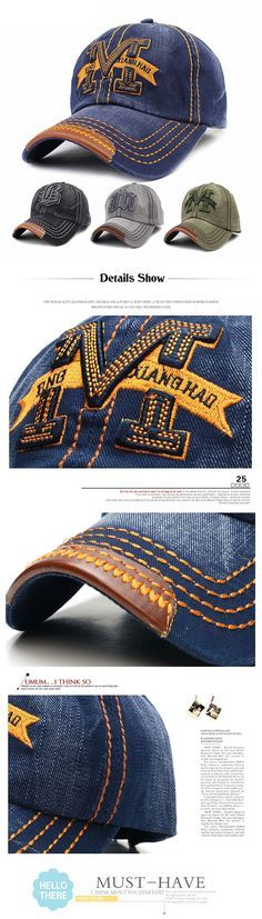 7a03d9d004c US 7.60 (48% OFF) Men Women Embroidery M Cowboy Sun Hat Adjustable Snapback