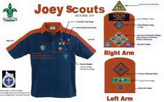 Joey Scout badge placement Victoria finished 2016 new Australia wide badge placement stared 2017 Cub Scouts, Girl Scouts, Scout Group, Scout Badges, Girl Guides, Scouting, Mens Tops, Shirts, Victoria