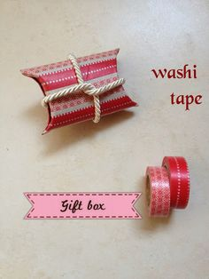 Scatola regalo fai da te con washi tape | Parola di Laura