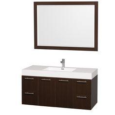 "Found it at Wayfair - Amare 47"" Single Bathroom Vanity Set with Mirror"