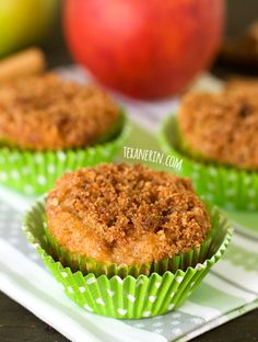 Grain–free and gluten–free apple muffins – you will not believe how moist, delicious and easy these are! #glutenfree #grainfree
