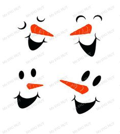 Set of 2 Snowman Faces bundle by MySVGHUT on Etsy
