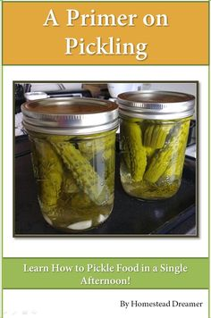 Learn to Pickle Foods for Less than a Latte'!